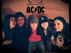 A Cagliari Dress in Black: Unica tribute all-female AC/DC Ac Dc, Champion, Black, Dresses, Vestidos, Black People, The Dress, Dress, Gowns