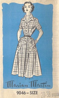 I find it funny and ironic that one of the most famous pattern makers from the 40s/50s was named Marian Martin. My name is Marian and my brother's name is Martin.