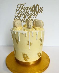 Double Barrelled Drip Cake