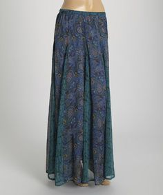 Look at this #zulilyfind! Blue Paisley Maxi Skirt - Women by Blue Plate #zulilyfinds
