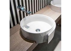 Flaminia Roll 44 Servant for frembygging mm, Hvit - Lilly is Love Lavabo Design, Vanity Units, Wall Tiles, Dog Bowls, Basins, Home Decor, Interiors, Bathroom, Wraps