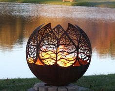 I LOVE these firepits on Etsy