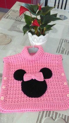 Crochet Baby Poncho, Crochet Girls, Crochet Baby Clothes, Crochet Motif, Free Crochet, Knit Crochet, Crochet Hats, Baby Knitting Patterns, Crochet Patterns