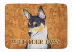 Toy Fox Terrier Wipe your Paws Machine Washable Memory Foam Mat SS4882RUG