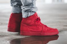 Instant Attention With The Air Jordan 1 High Red Suede