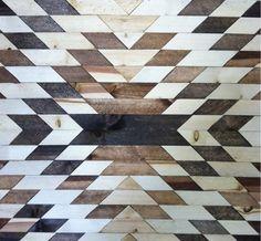 wooden geometric pattern *  See More texture inspirations at http://www.brabbu.com/en/inspiration-and-ideas/ #LivingRoomFurniture #LivingRoomSets #ModernHomeDécor