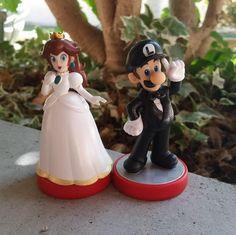 Custom Amiibo Super Mario Bros Video Game Wedding by PeachyCustoms