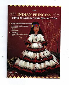 Indian Princess Crochet Indian Doll Pattern by grammysyarngarden