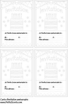 Carte invitation anniversaire enfant (Gratuit) | PetitsScouts