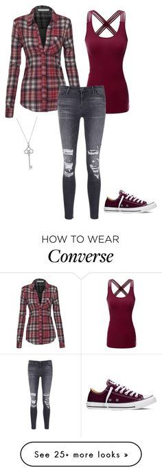 """red"" by xoxogosipgirlxoxo on Polyvore featuring Doublju, J Brand, Converse and Tiffany & Co."