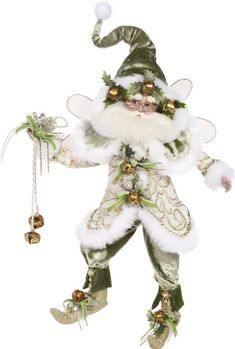 Authentic Mark Roberts Sleighbell Christmas Fairy Item Size: Medium Each Mark Roberts piece is handcrafted and painted by skilled artis What Is Christmas, Old World Christmas, Christmas Fairy, Christmas Central, Halloween Christmas, Vintage Christmas, Christmas Holidays, Christmas Decorations, Christmas Ornaments