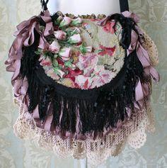 Victorian Gypsy Handbag / Bohemian Handbag / by TurtleDoveBagsEtc