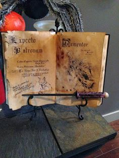 Harry Potter Spell book tutorial
