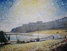 ARTFINDER: Winter sunlight Broadstairs by Rod Bere - A December view of a local beach