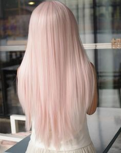 Red or Pink Hair Color Tones-Haare pastell , inspirierende modelle zu testen Hair Inspo, Hair Inspiration, Pastel Pink Hair, Baby Pink Hair, Long Pink Hair, Pink Blonde Hair, Pastel Wig, Long White Hair, Pale Blonde