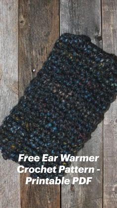 Crochet Ear Warmer Pattern, Crochet Headband Pattern, Crochet Beanie, Crochet Hooks, Knit Crochet, Crochet Projects, Diy Projects, Knitting Patterns, Crochet Patterns