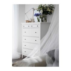HEMNES 6-drawer chest IKEA Extra roomy drawers. Smooth running drawers with pull-out stop.