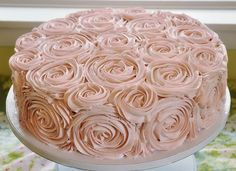 buttercream frosting roses, would be beautiful on a tiered wedding cake