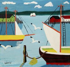 Digby Harbour (1958) - Maud Lewis