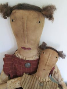 Set of Primitive Dolls by Bettesbabies on Etsy, $64.00