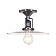 JVI Designs 1202 S6 Union Square 1-Light Semi Flush Ceiling Light with 10-in Glass Shade