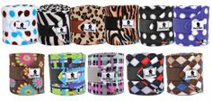 Polo Wraps - I have the zebra and blue/brown polka dot ones! Western Horseman, Polo Wraps, Classic Equine, Horse Boots, Western Horse Tack, Barrel Horse, Saddle Pads, Horse Stuff, Saddles