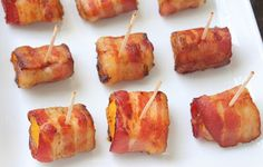 Bacon Wrapped Butternut Squash Bites (Low Carb and Paleo) - Living Low Carb One Day At A Time