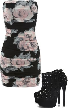 Luv the style of dress! And heels! I don't mind the flowers on this. Not much of a flower person on clothes. Luv flowers in the garden tho;)