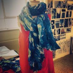 Beautiful printed scarf from the Bomanji Collection by Scarlett Stewart Fashion
