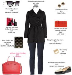 A black trench is a must-have. @Mango @SaksOFF5TH @JonesNewYork #trenchcoat #loafers #KateSpade https://mystylit.com/o/qvTxWk6a