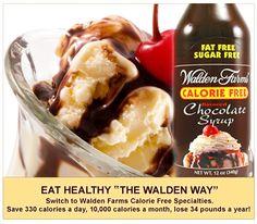 Walden Farms Calorie Free Chocolate Syrup... 0 carbs, 0 calories!