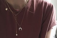 WHITE MOON necklace by Chouette Fille