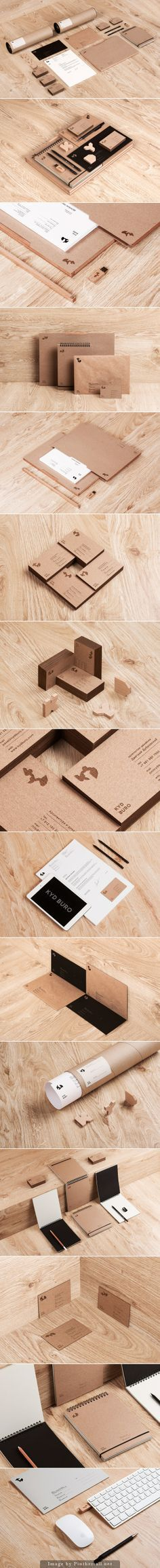 logo corporate branding visual graphic identity kraft paper design business card label print usb nature notepad minimal letterpress texture wood organic letter