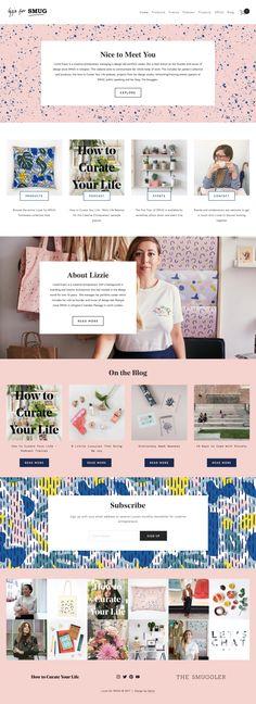 Website Design Mood Board for Lizzie for SMUG | Squarespace Design | Gatto