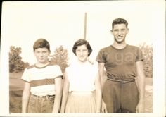 A personal favorite from my Etsy shop https://www.etsy.com/listing/509814245/vintage-photo-of-3-young-siblings-teen