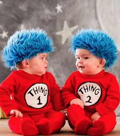 Dr. Seuss Thing 1 and Thing 2 baby costumes http://rstyle.me/n/pc5y6pdpe