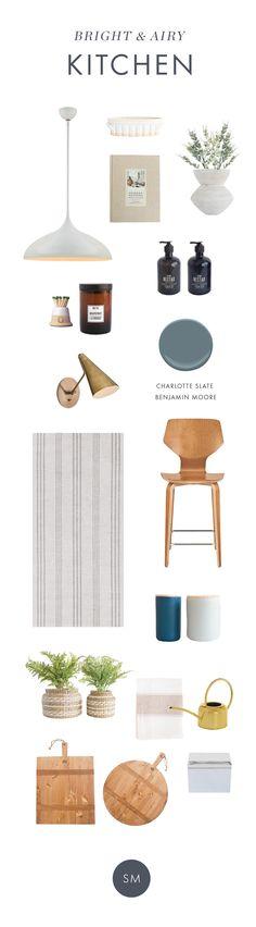 Bright & Airy Kitchen Inspiration Design Board - Studio McGee Design