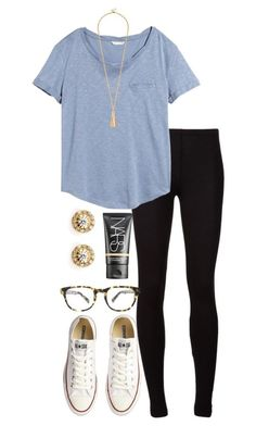 """secrets tag!"" by alexisfloyd ❤ liked on Polyvore featuring Splendid, H&M, Converse, Warby Parker, Ileana Makri and NARS Cosmetics"
