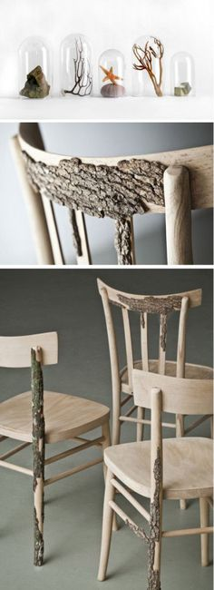Di Corte, designed by Andrea Magnani, Giovanni Delvecchio and Elisabetta Amatori of Resign: Wooden Chairs, Diy Ideas, Wood Chairs, Wood Furniture, Diy Furniture, Furniture Trees Roots, Rooms Ideas, Natural Wood, Awesome Chairs
