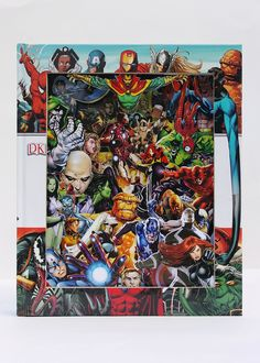 Marvel Superheroes 3D Book Sculpture rokoro.co.uk