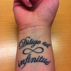 #loveisendless #wristtattoo #quotes