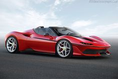 World premiere of the Ferrari created to celebrate the anniversary of Ferrari in Japan. The Ferrari is a two-seater, mid-rear-engined roadster… Ferrari 488, Ferrari Dino, Ferrari 2017, New Ferrari, Honda Fit, Supercars, Toyota Etios, Bespoke Cars, Automobile