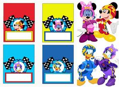 Mickey Roadster Racers Food Labels Mickey Roadster Racers Mickey Mouse Clubhouse Birthday, Mickey Birthday, Mickey Party, 2nd Birthday, Party Food Labels, Welcome Door Signs, Kids Birthday Themes, Bag Toppers, Tent Cards