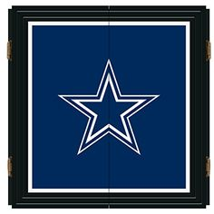 Finish your gameroom with this Extreme Dart Cabinet Set. Set Features Solid Pine Cabinet painted in high gloss black.e Front Cabinet Doors painted in team color Dallas Cowboys License Plate, Dallas Cowboys Gear, Mirror Logo, Car Mirror, Popular Sports, Nfl, Cabinet, Dart Board, Crystal