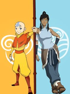 Miss the Old series looking forward to the new one.    Korra and Aang - Avatars