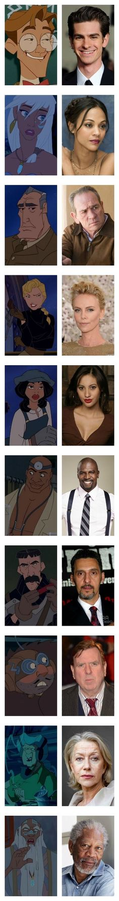 OKAY DISNEY IM WAITING FOR MY LIVE ACTION MOVIE WITH THIS CAST NOW!!! Atlantis forever