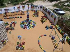 Old tire playground ideas: Tires