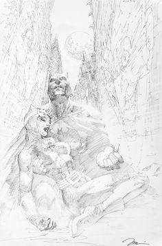 Original Comic Art titled Batman Page 15 / HUSH Chapter The Joke / Batman and Catwoman Splash by Jim Lee, located in Kyle's Batman: HUSH Comic Art Gallery Jim Lee Batman, Batman Hush, Batman And Catwoman, Batgirl, Comic Book Artists, Comic Artist, Jim Lee Art, Comic Drawing, Batman Universe
