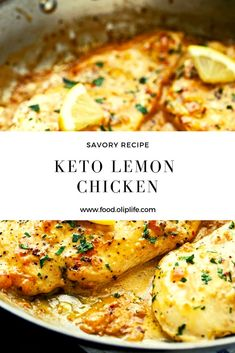 chicken recipe lemon keto food olip life Recipe Keto Lemon Chicken Food Olip LifeYou can find Keto chicken and more on our website Low Carb Meal Plan, Low Carb Dinner Recipes, Keto Dinner, Low Carb Keto, Diet Recipes, Chicken Recipes, Cooking Recipes, Healthy Recipes, Healthy Meals