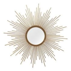 The Stratton Home Decor Andrea Wall Mirror - 26 diam. brings a burst of light with gold metal tines radiating from the bright circular mirror. Circular Mirror, Metal Mirror, Round Wall Mirror, Round Mirrors, Mirror Hanging, Sun Mirror, Mirror Mirror, Mirror Collage, Mirror Image